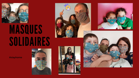 association le nid montessori clamart - masques solidaires